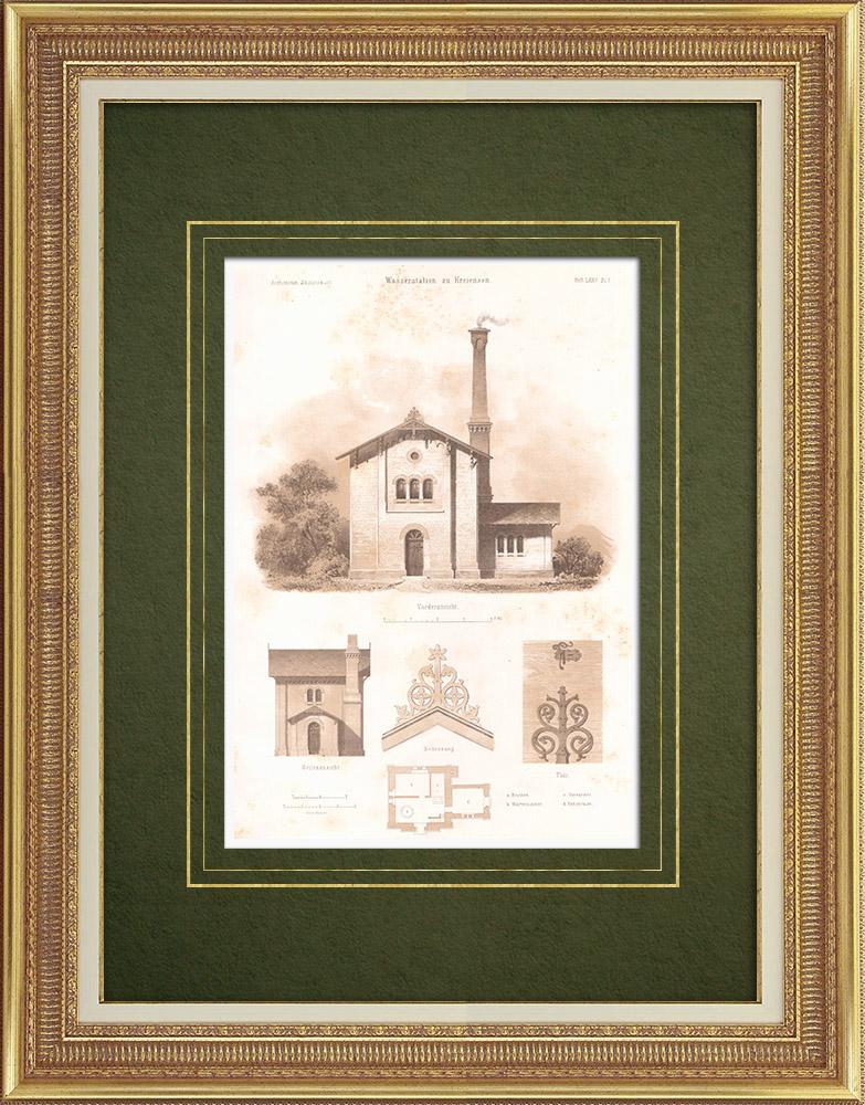 Stampe Antiche & Disegni | Fabbrica idraulica a Kreiensen (Germania) | Litografia | 1865