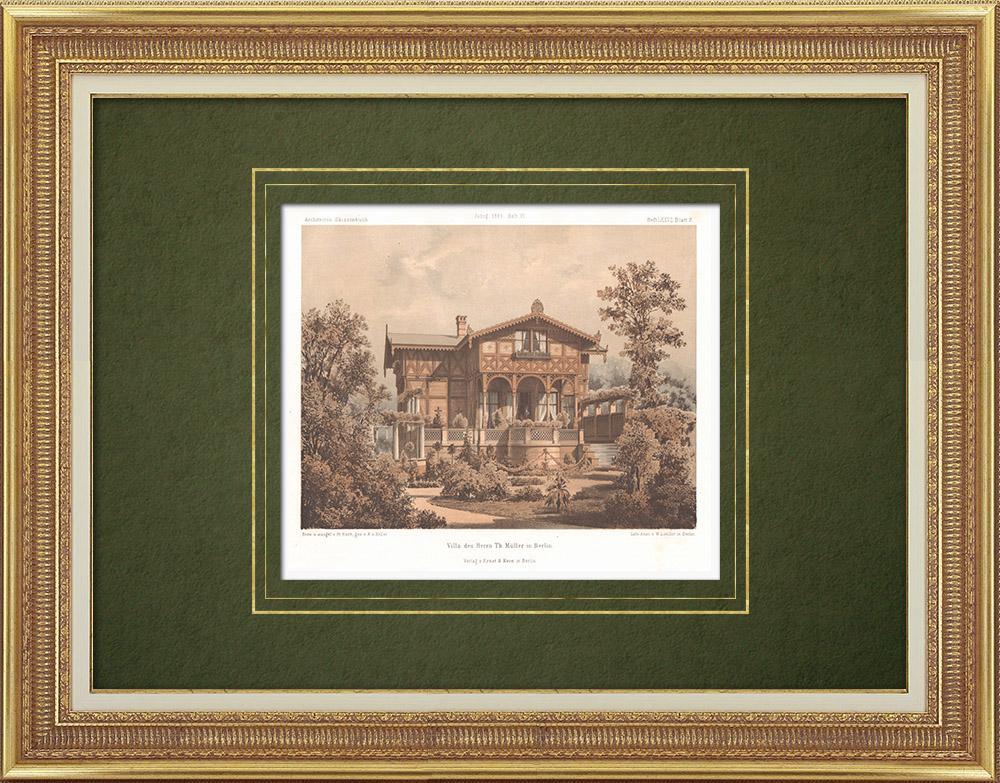 Stampe Antiche & Disegni | Casa a Berlino (Germania) | Litografia | 1865