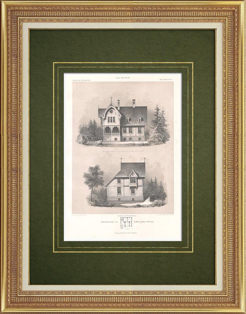 Stampe Antiche & Disegni | Casa in Slesia (Polonia) | Litografia | 1865