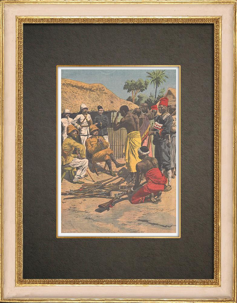Stampe Antiche & Disegni | Fine della rivolta degli Abbays in Costa d'Avorio - 1910 | Incisione xilografica | 1910
