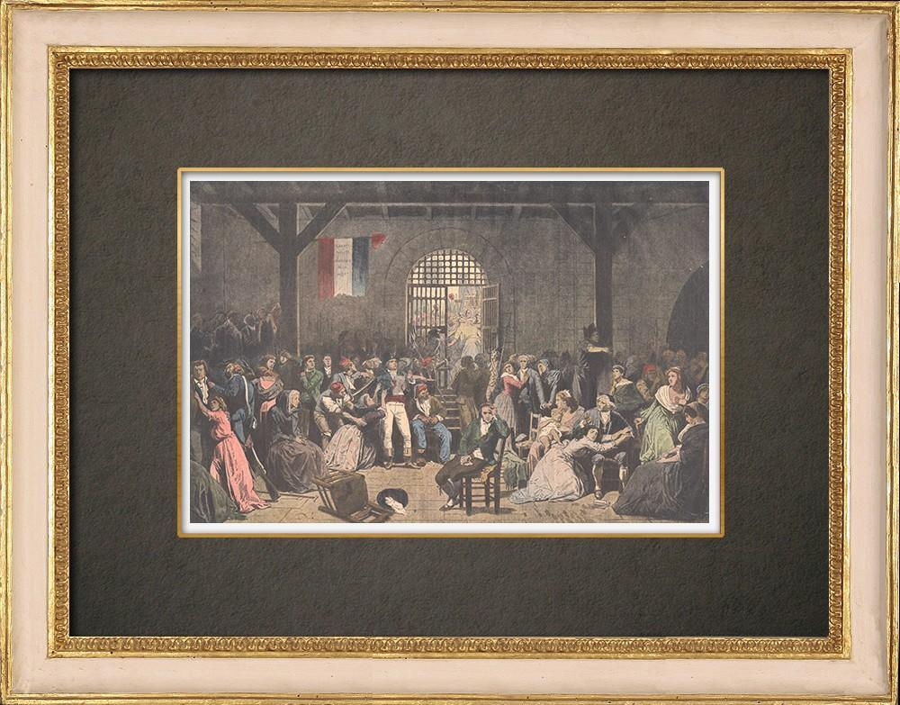 Antika Tryck & Ritningar   Appel des dernières victimes de la Terreur - Målning - Charles Muller - 1850   Träsnitt   1910