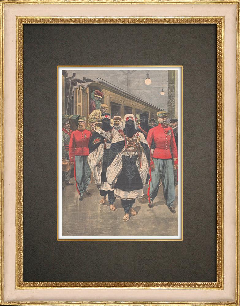 Stampe Antiche & Disegni | Arrivo di Moussa ag Amastan a Parigi - 1910 | Incisione xilografica | 1910