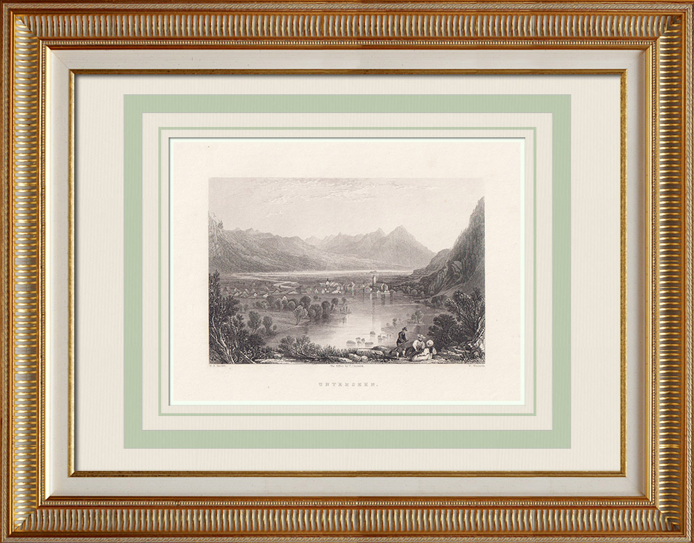 Antique Prints & Drawings | Lake Constance - Untersee (Switzerland - Germany) | Intaglio print | 1836