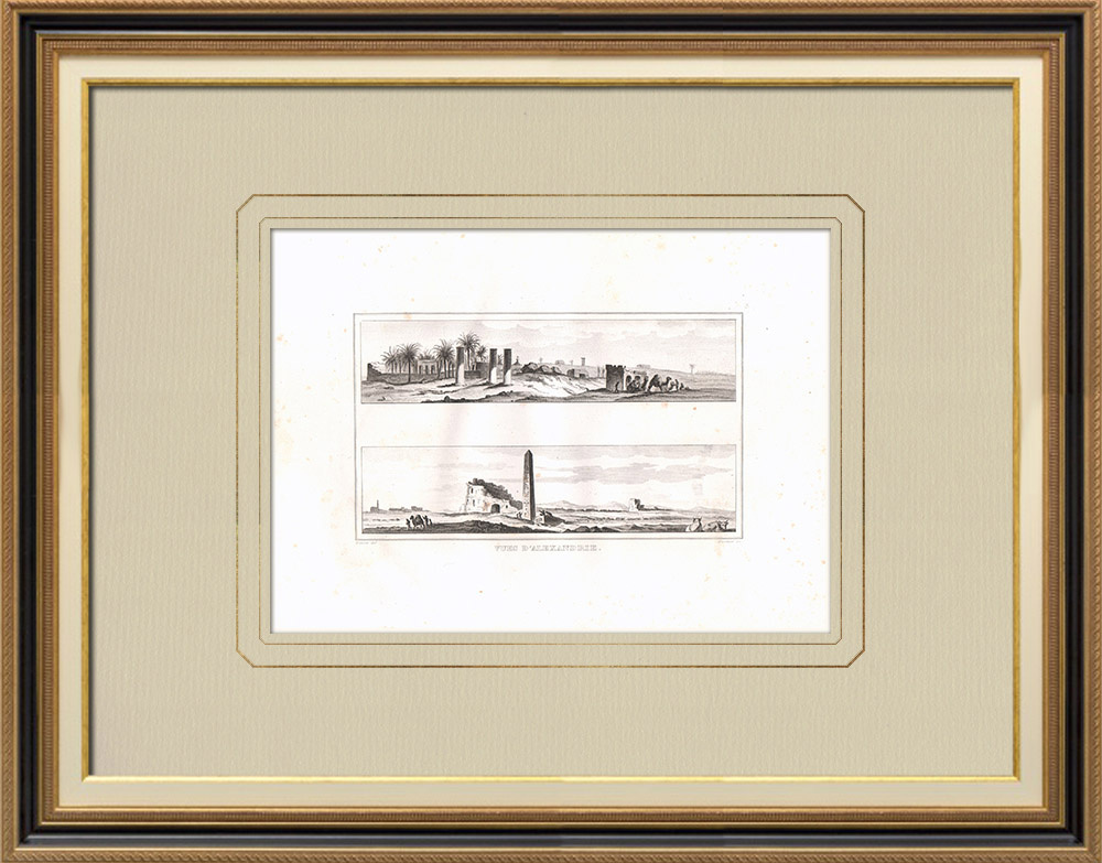 Antique Prints & Drawings | Views of Alexandria (Egypt) | Copper engraving | 1830