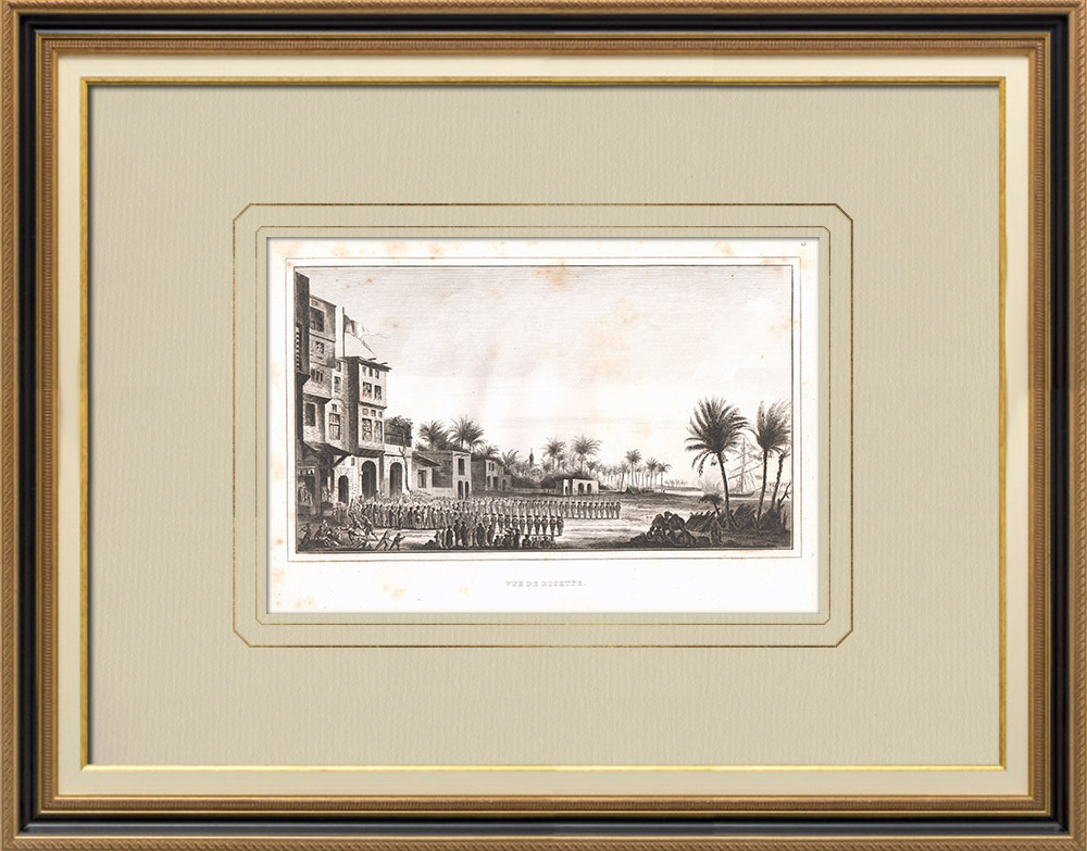 Antique Prints & Drawings | View of Rosetta - Rashid (Egypt) | Copper engraving | 1830