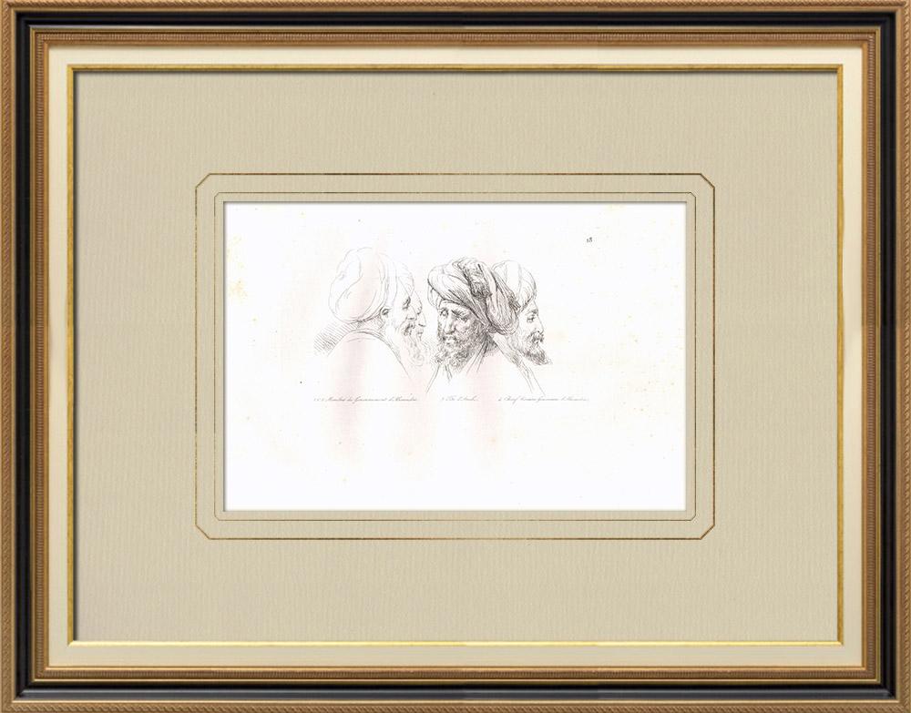 Grabados & Dibujos Antiguos | Gobierno de Alejandría - Campaña Napoleónica en Egipto - 1798 | Grabado calcográfico | 1830