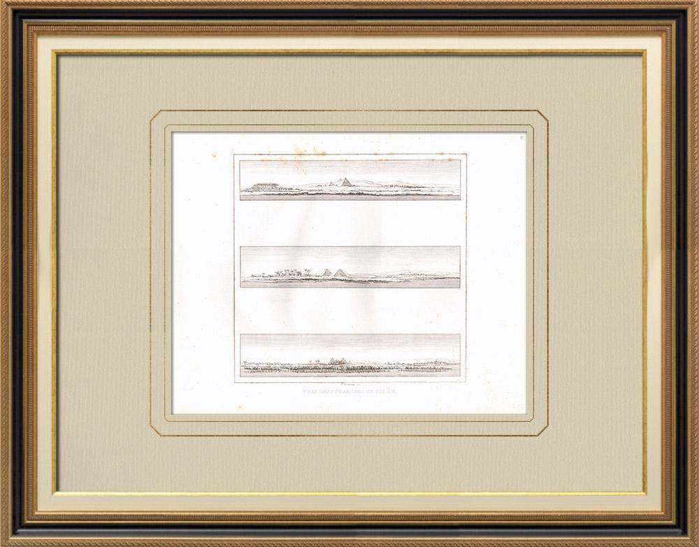 Stampe Antiche & Disegni | Piramide di Giza - Piramide di Cheope - Antico Egitto (Egitto) | Incisione su rame | 1830