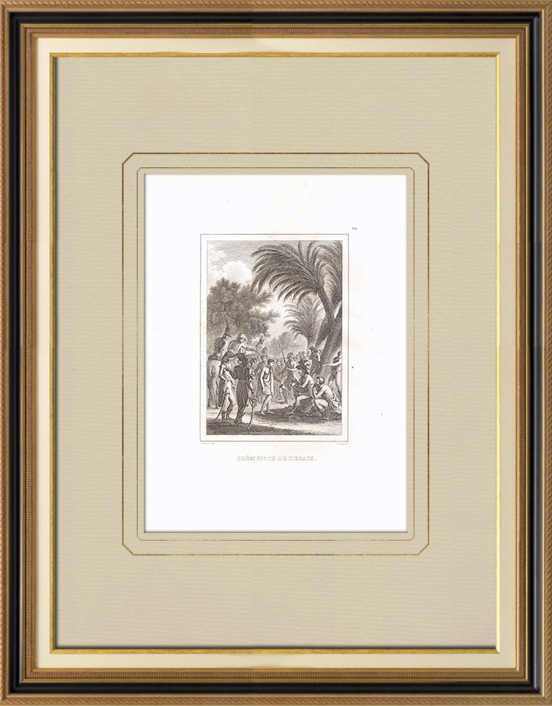Antique Prints & Drawings | General Desaix's clemency in Egypt | Copper engraving | 1830