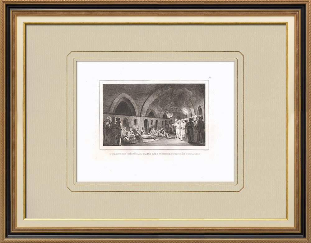 Antique Prints & Drawings | Tombs of Naqadéh - Napoleonic Campaign in Egypt (Egypt) | Copper engraving | 1830