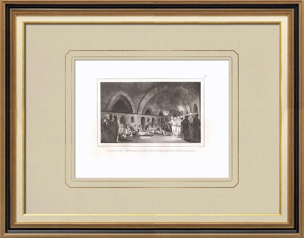 Stare Grafiki & Rysunki   Grobowce Naqadéh - Kampania Napoleońska w Egipcie (Egipt)   Miedzioryt   1830