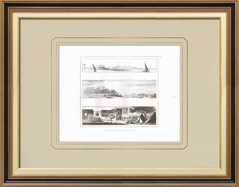 Antique Print & Etching | Ansichten von Unterägypten - Sendyoun - Deyrout - Wohnung (Ägypten) | Kupferstich | 1830