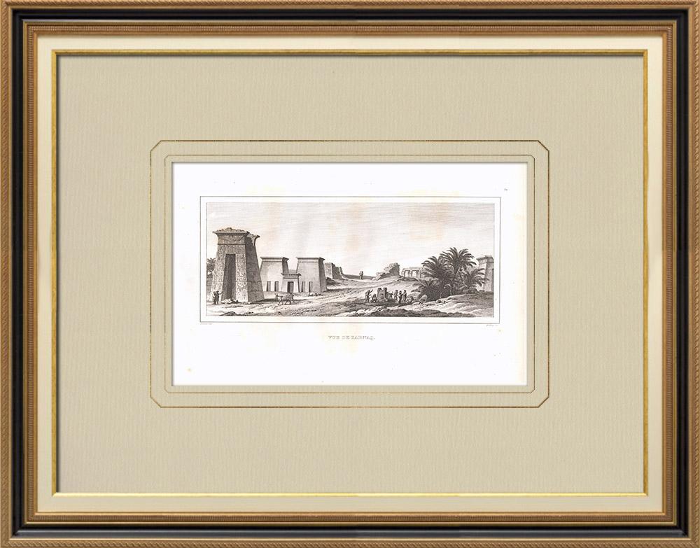 Gravures Anciennes & Dessins | Vue de Karnak - Louxor (Egypte) | Gravure sur cuivre | 1830