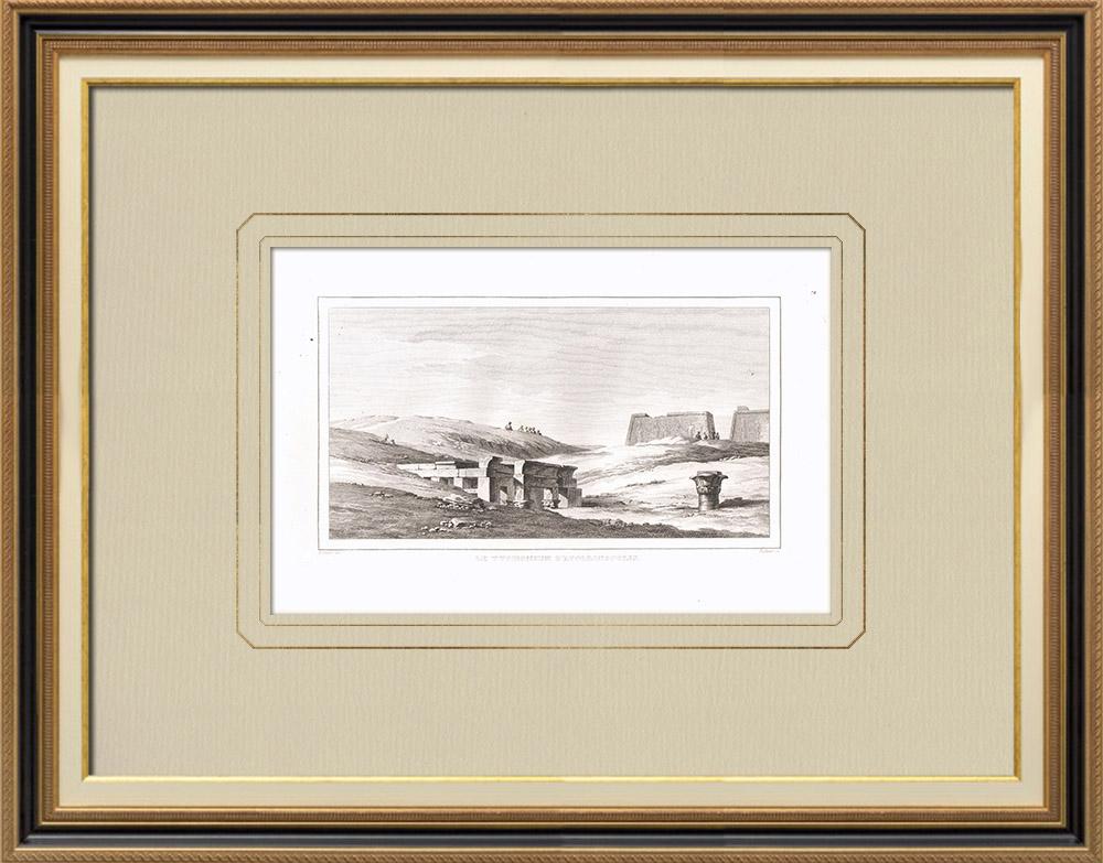 Gravuras Antigas & Desenhos | Typhonium d'Apollinopolis Magna - Templo de Edfu - Hórus (Egito) | Gravura em buril sobre cobre | 1830
