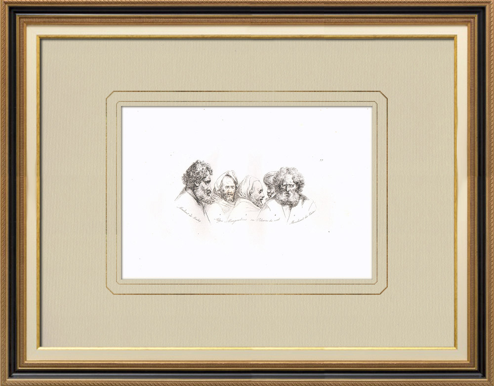 Antique Print & Etching | Porträts von Bettlern und Pilgern (Ägypten) | Kupferstich | 1830