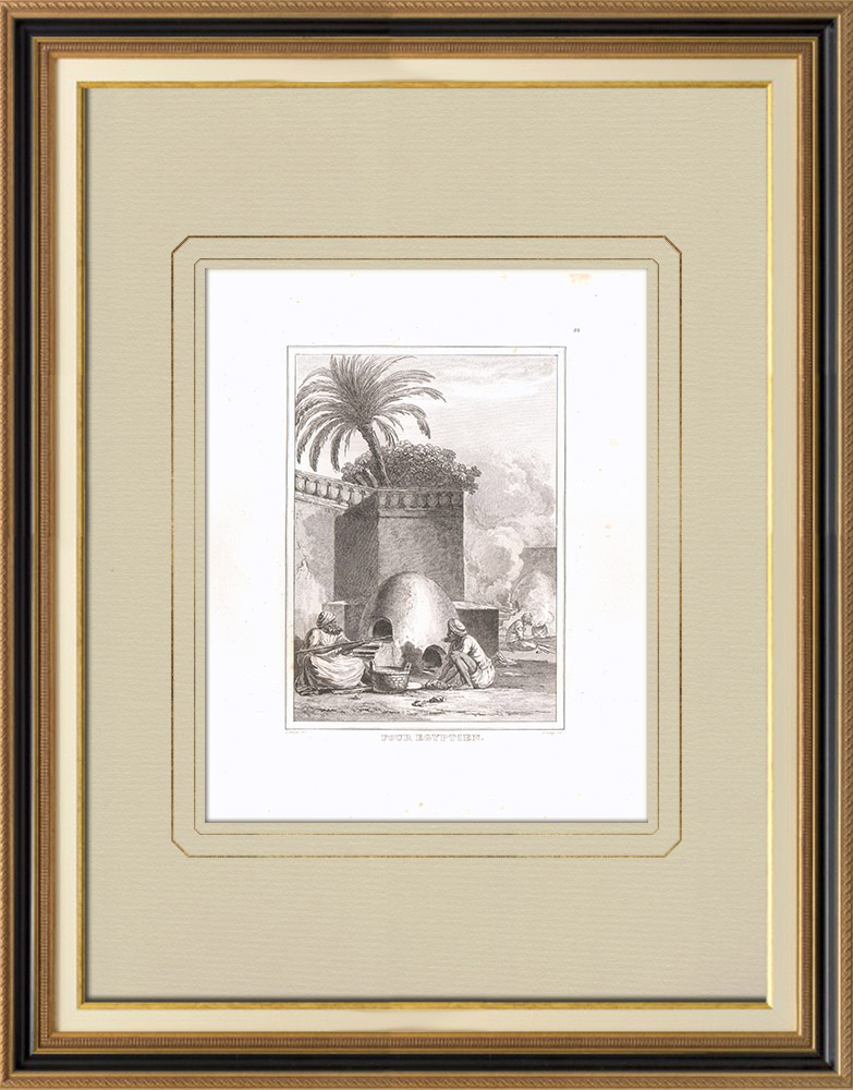 Antique Prints & Drawings | An Egyptian oven (Egypt) | Copper engraving | 1830