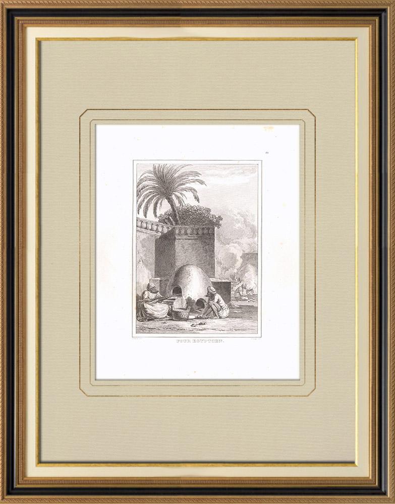 Oude Prenten & Tekeningen | Een Egyptische Oven (Egypte) | Kopergravure | 1830