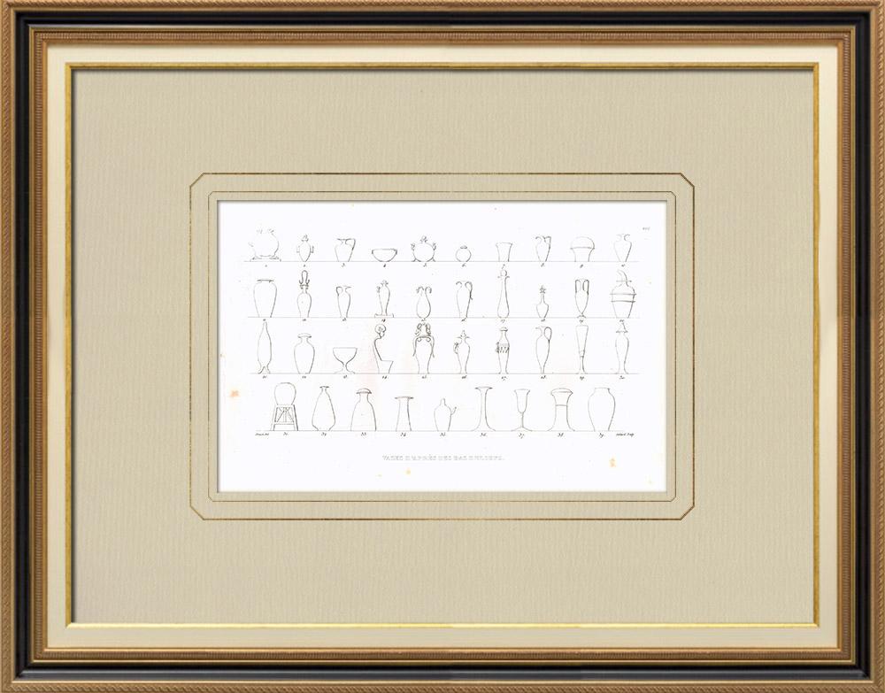 Antique Print & Etching | Ägyptische Vasen (Ägypten) | Kupferstich | 1830