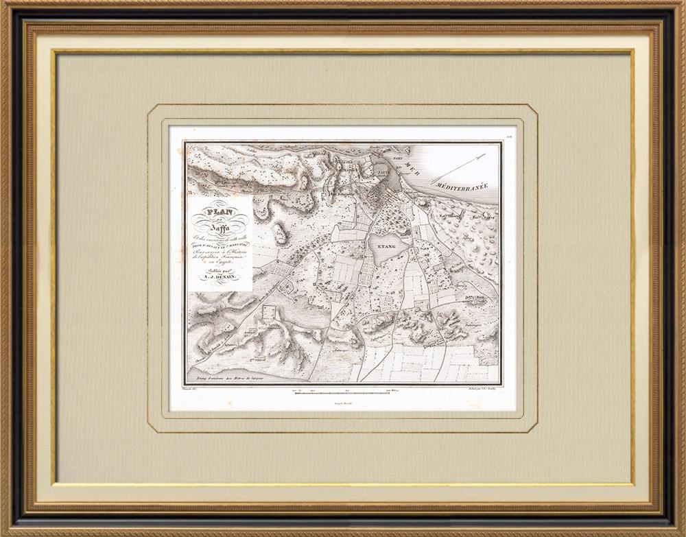 Oude Prenten & Tekeningen | Plan van Jaffa - Tel Aviv - Campagne in Egypte (Israël) | Kopergravure | 1830