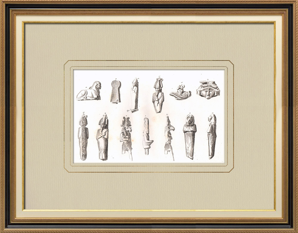 Antique Prints & Drawings | Egyptian Antiquities (Egypt) | Copper engraving | 1830