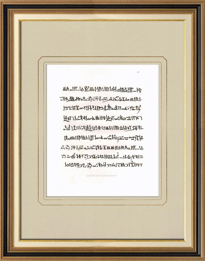 Antique Print & Etching | Manuskript - Mumie (Ägypten) | Kupferstich | 1830