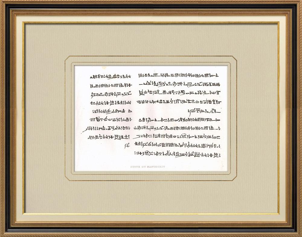 Oude Prenten & Tekeningen | Manuscript - Mummie (Egypte) | Kopergravure | 1830