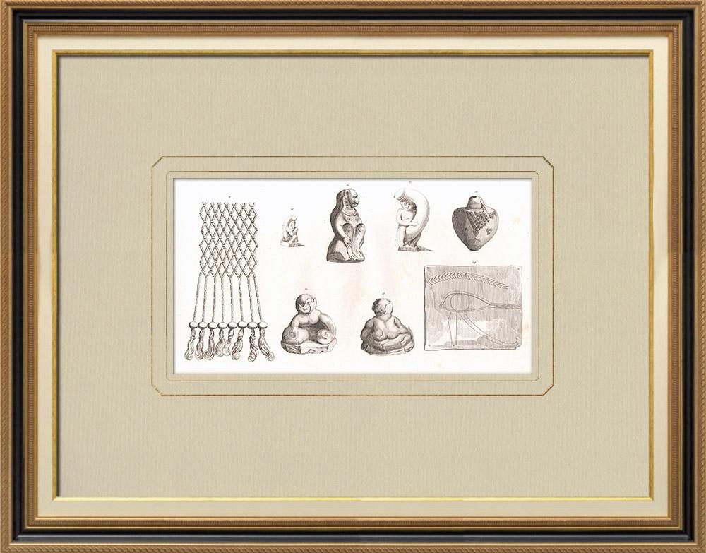 Antique Print & Etching | Ägyptische Altertümer (Ägypten) | Kupferstich | 1830