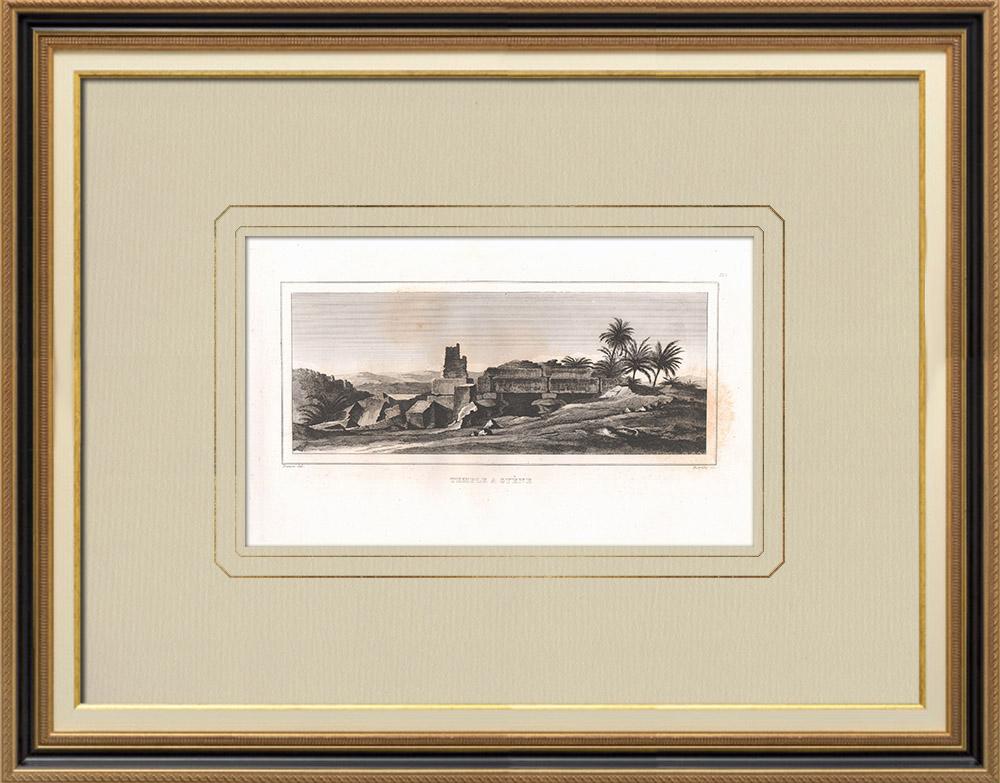 Stampe Antiche & Disegni | Tempio ad Assuan - Syene (Egitto) | Incisione su rame | 1830