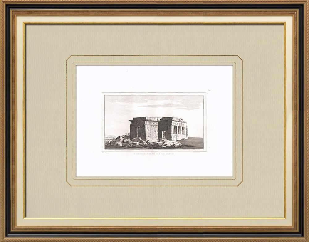 Gravuras Antigas & Desenhos | Ruínas perto de Chnubis (Egito) | Gravura em buril sobre cobre | 1830