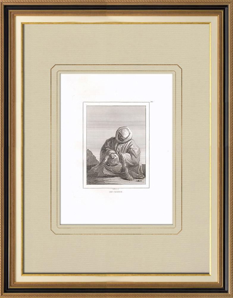 Antique Print & Etching | Ein Scheich (Ägypten) | Kupferstich | 1830