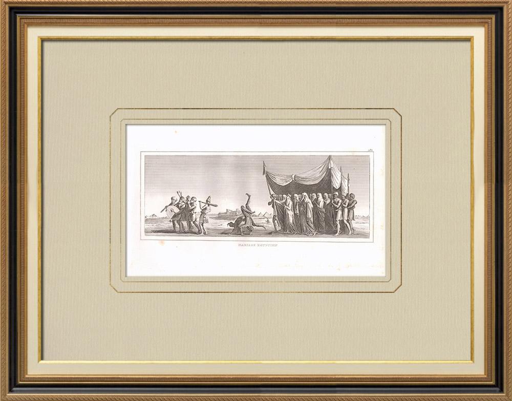 Antique Print & Etching | Ägyptische Hochzeit (Ägypten) | Kupferstich | 1830