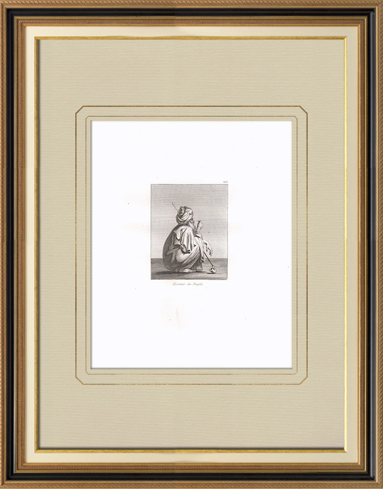 Antique Prints & Drawings | A people's Man (Egypt) | Copper engraving | 1830