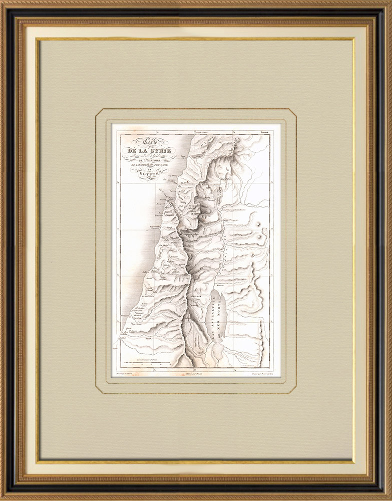 Antique Prints & Drawings | Antique map of Syria | Copper engraving | 1830