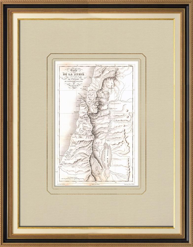 Antika Tryck & Ritningar | Gammalt Kartlägga av Syrien | Kopparstick | 1830