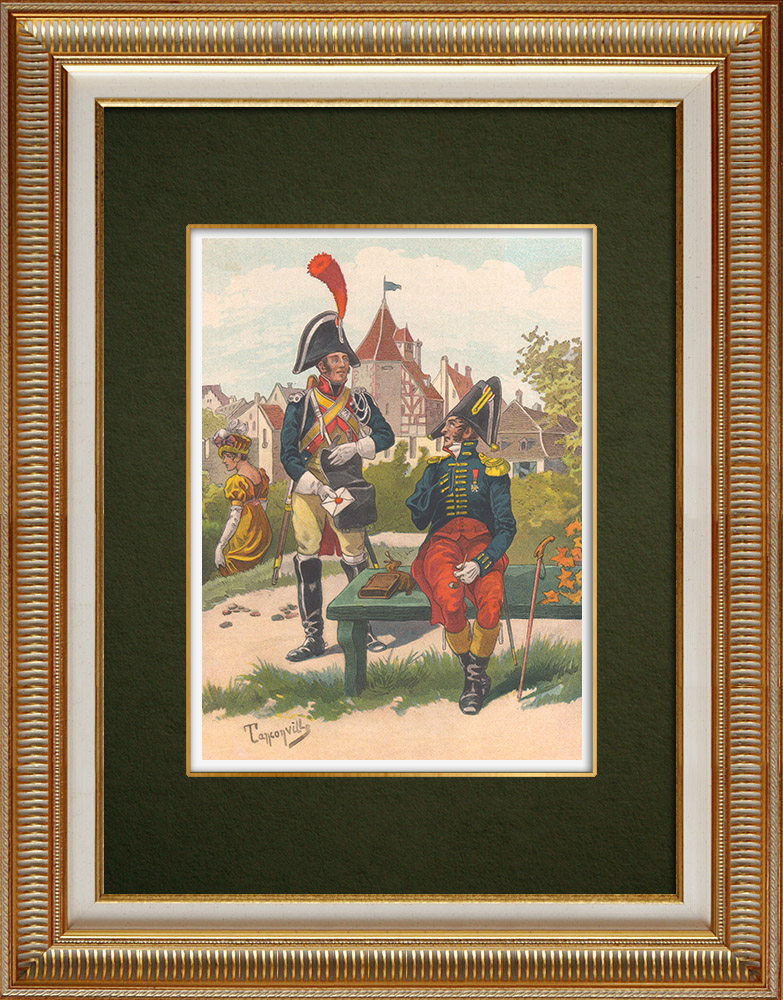 Antique Print & Etching | Kaiserliche Gendarmerie in Straßburg (1810) | Grafik | 1911