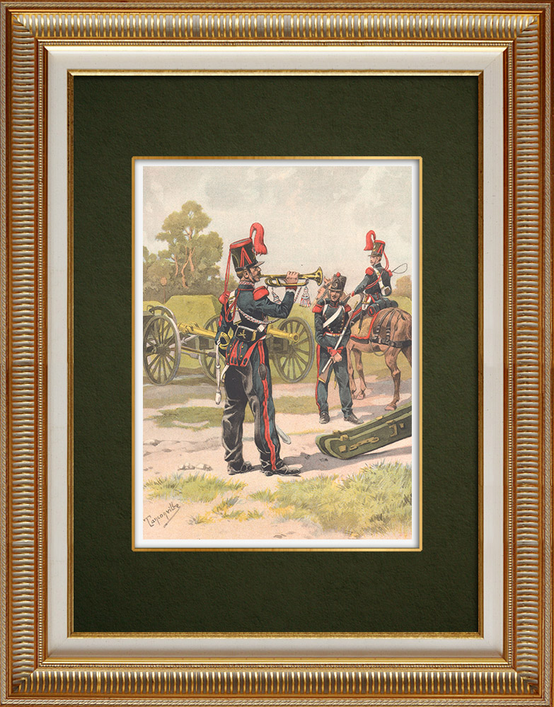 Antique Prints & Drawings | Artillery regiments in Strasbourg (1835) | Print | 1911