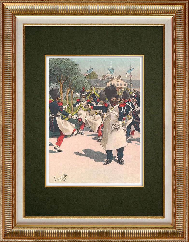 Antique Print & Etching | Sappeure der Nationalgarde - Straßburg - Elsass - Frankreich (1848) | Grafik | 1911