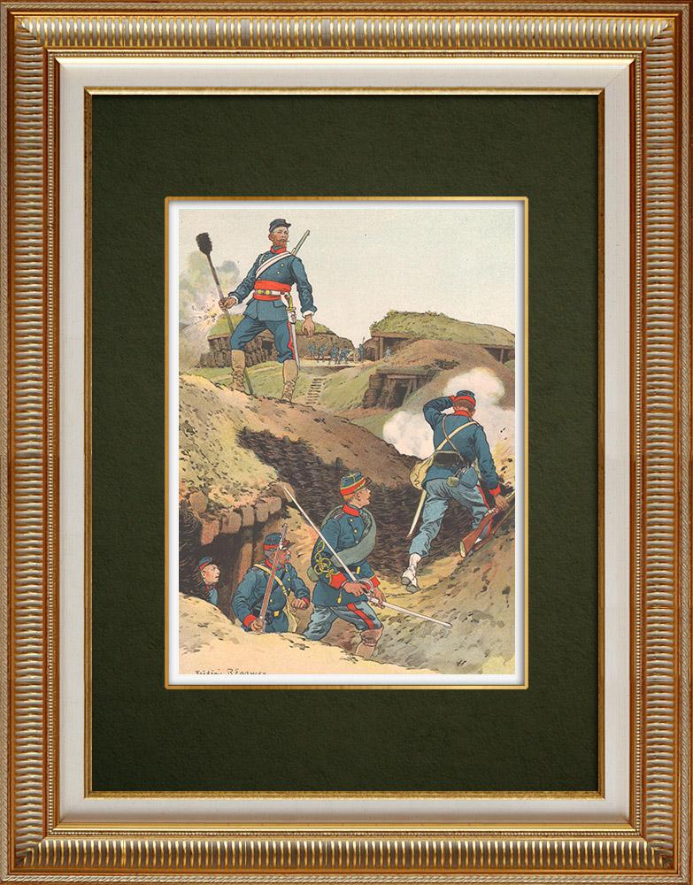 Stare Grafiki & Rysunki | Mobilny Strażnik w Strasburg - Alzacja - Francja (1870) | Grafika | 1911