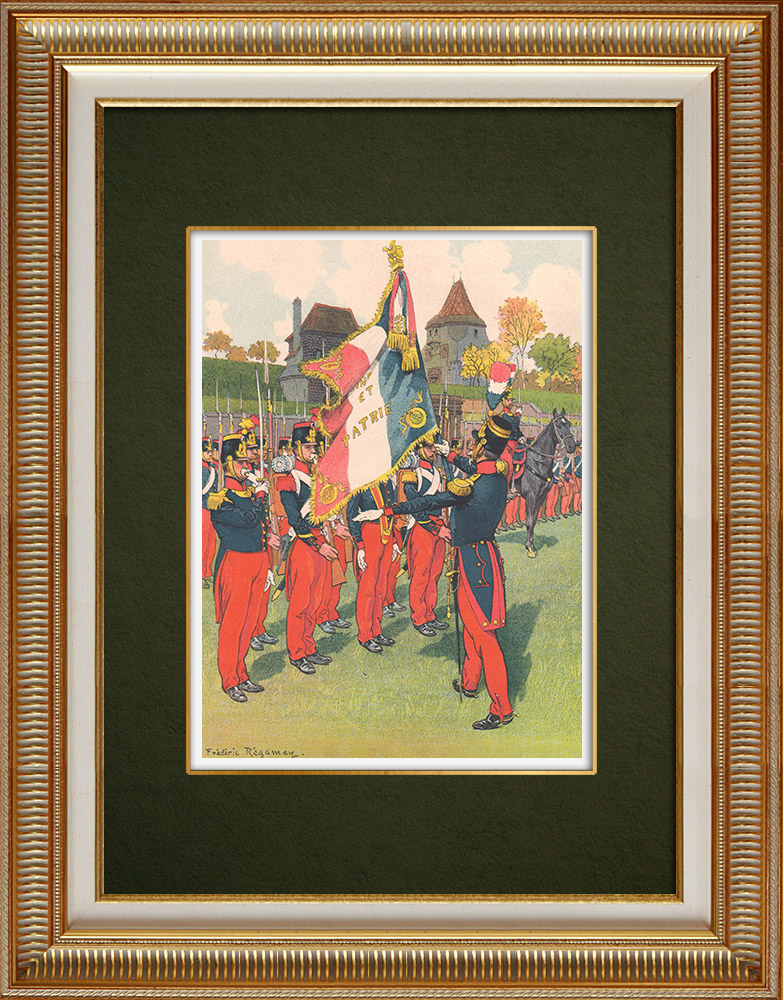 Antika Tryck & Ritningar | 69:e Infanteriregimentet i Strasbourg - Elsass - Frankrike (1840) | Grafik | 1911