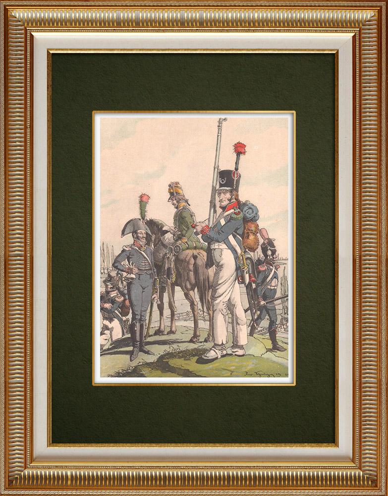 Antika Tryck & Ritningar | 13:e Jägare-Regimentet i Strasbourg - Alsace - Frankrike (1803) | Grafik | 1911