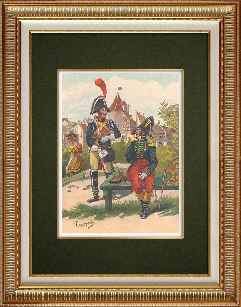 Gravuras Antigas & Desenhos | Gendarmaria Imperial em Estrasburgo - Alsácia - França (1810) | Estampa | 1911