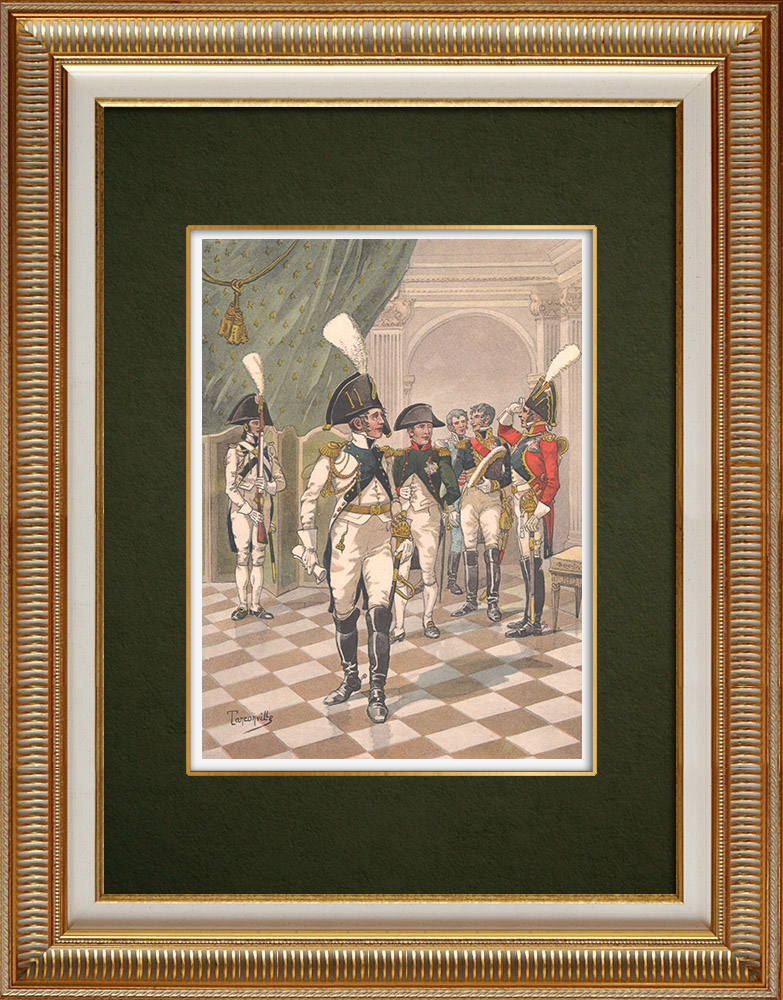 Antique Prints & Drawings | Emperor Napoleon I and the Strasbourg Guard of honor - Alsace - France (1806 | Print | 1911