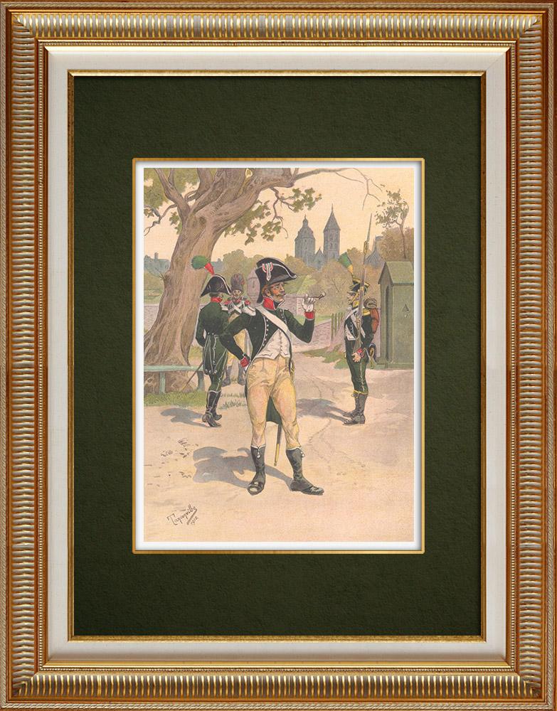 Stampe Antiche & Disegni | Reggimento di La Tour d'Auvergne a Wissembourg - Alsazia - Francia (1805-1809) | Stampa | 1911