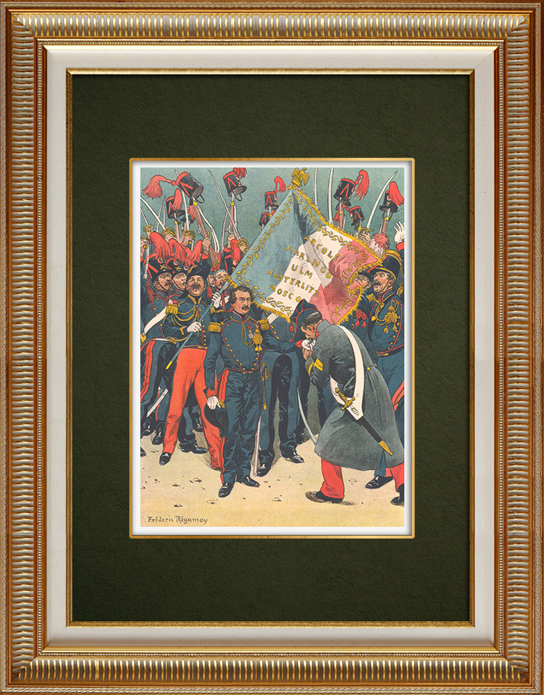 Antique Prints & Drawings | Attempted uprising in Strasbourg by Louis-Napoléon Bonaparte - Alsace (1836) | Print | 1911