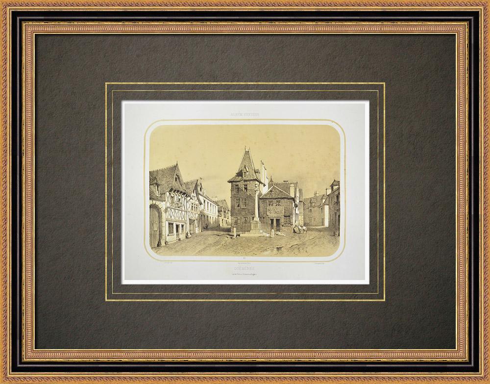 Antique Prints & Drawings | View of Guémené-Penfao - Pays de la Loire - Loire-Atlantique (France) | Lithography | 1860