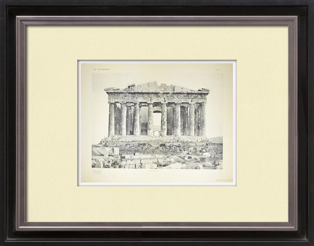 Stampe Antiche & Disegni | Veduta delle Partenone, lato ovest (Grecia) | Heliogravure | 1912