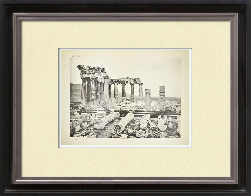 Antique Prints & Drawings | View of the Parthenon, facing north (Greece) | Heliogravure | 1912