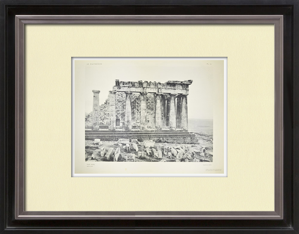 Antique Prints & Drawings | View of the Parthenon, north face, west part (Greece) | Heliogravure | 1912