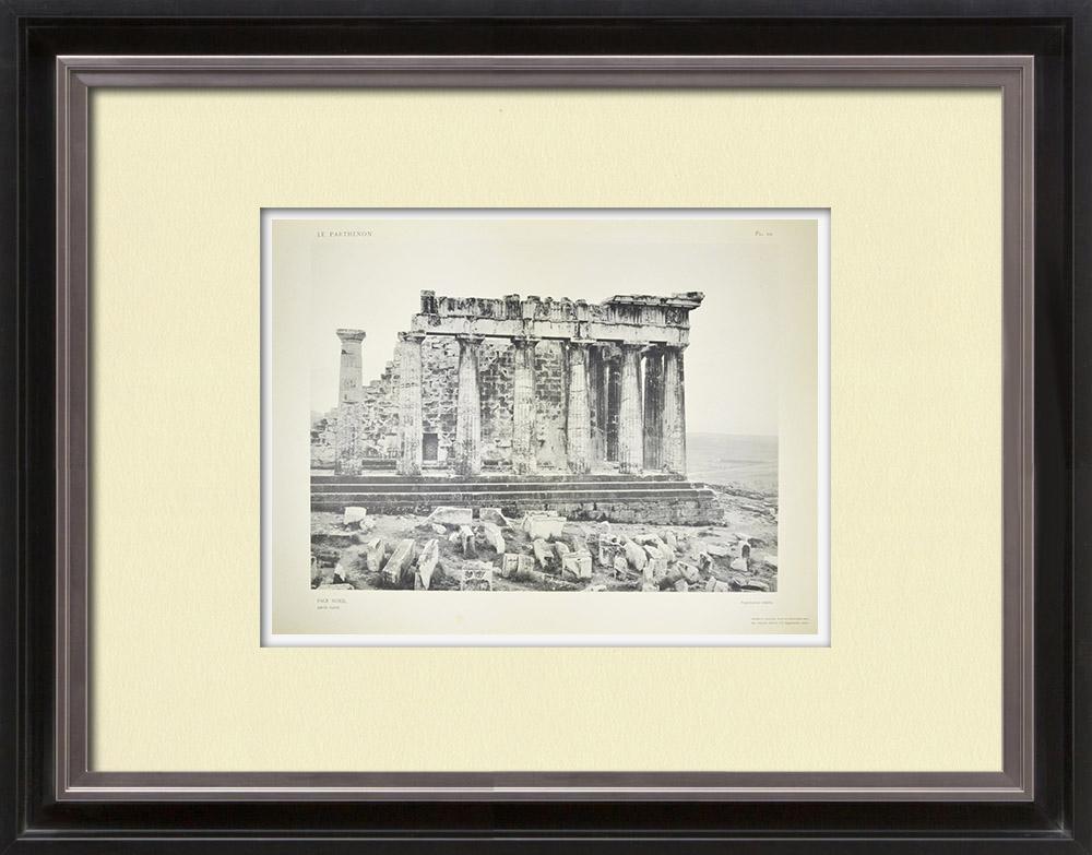 Antika Tryck & Ritningar | Vy över Parthenon, nordsida, västra delen (Grekland)  | Heliogravyr | 1912