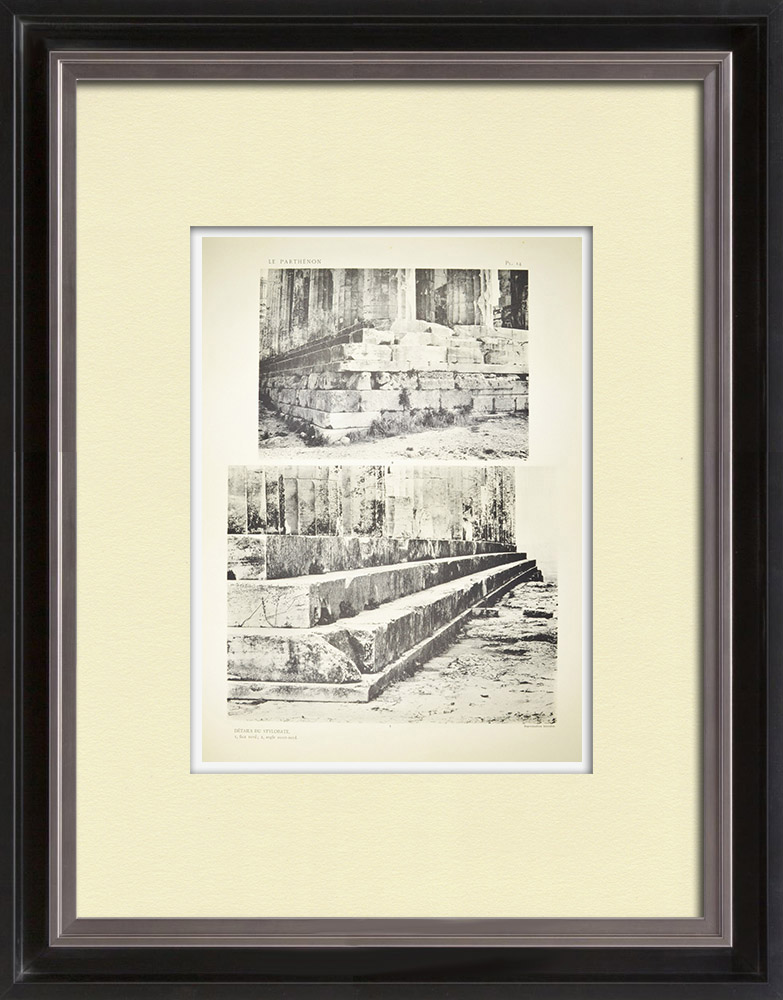 Antique Prints & Drawings | View of the Parthenon - Stylobate (Greece) | Heliogravure | 1912