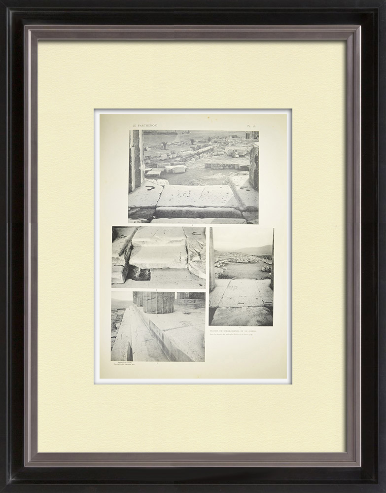 Gravuras Antigas & Desenhos | Vista do Parthenon - Sellos no peristilo (Grécia) | Heliogravura | 1912